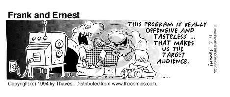 Comic Strip Bob Thaves Tom Thaves  Frank and Ernest 1994-07-11 live