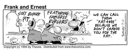 Cartoonist Bob Thaves Tom Thaves  Frank and Ernest 1994-07-12 fat