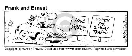 Comic Strip Bob Thaves Tom Thaves  Frank and Ernest 1994-07-13 love life
