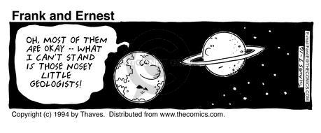 Comic Strip Bob Thaves Tom Thaves  Frank and Ernest 1994-07-16 earth
