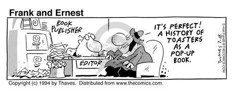 Cartoonist Bob Thaves Tom Thaves  Frank and Ernest 1994-07-18 pop-up book