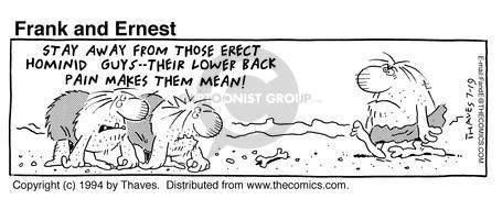 Comic Strip Bob Thaves Tom Thaves  Frank and Ernest 1994-07-19 posture