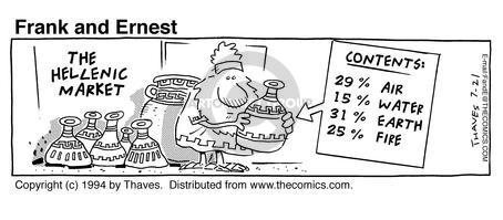 Comic Strip Bob Thaves Tom Thaves  Frank and Ernest 1994-07-21 air