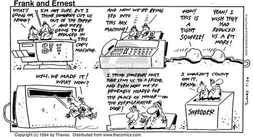 Comic Strip Bob Thaves Tom Thaves  Frank and Ernest 1994-07-24 equipment