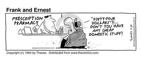 Comic Strip Bob Thaves Tom Thaves  Frank and Ernest 1994-07-30 cheap