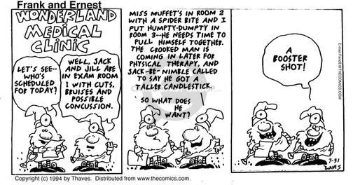 Comic Strip Bob Thaves Tom Thaves  Frank and Ernest 1994-07-31 exam