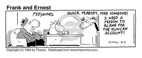 Comic Strip Bob Thaves Tom Thaves  Frank and Ernest 1994-08-03 employee