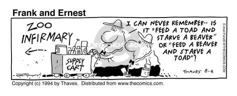 Comic Strip Bob Thaves Tom Thaves  Frank and Ernest 1994-08-04 toad