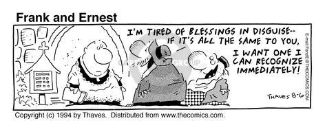 Comic Strip Bob Thaves Tom Thaves  Frank and Ernest 1994-08-06 disguise