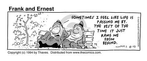 Comic Strip Bob Thaves Tom Thaves  Frank and Ernest 1994-08-10 just left