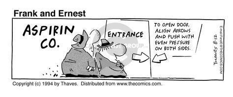 Comic Strip Bob Thaves Tom Thaves  Frank and Ernest 1994-08-12 sign