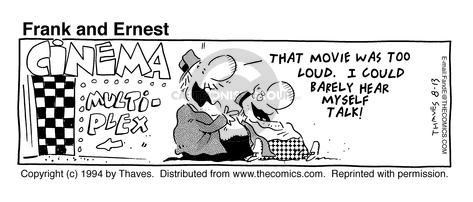 Comic Strip Bob Thaves Tom Thaves  Frank and Ernest 1994-08-13 theater