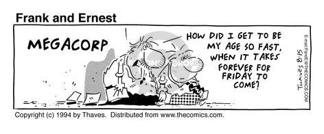 Comic Strip Bob Thaves Tom Thaves  Frank and Ernest 1994-08-15 megacorp