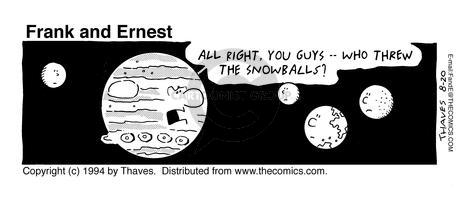 Comic Strip Bob Thaves Tom Thaves  Frank and Ernest 1994-08-20 earth