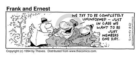 Cartoonist Bob Thaves Tom Thaves  Frank and Ernest 1994-08-22 news