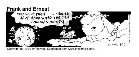 Comic Strip Bob Thaves Tom Thaves  Frank and Ernest 1994-08-26 earth
