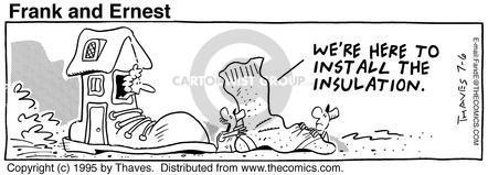 Comic Strip Bob Thaves Tom Thaves  Frank and Ernest 1994-08-28 traveler