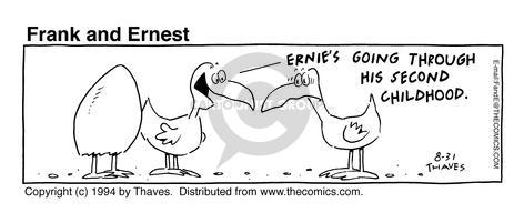 Comic Strip Bob Thaves Tom Thaves  Frank and Ernest 1994-08-31 comfort