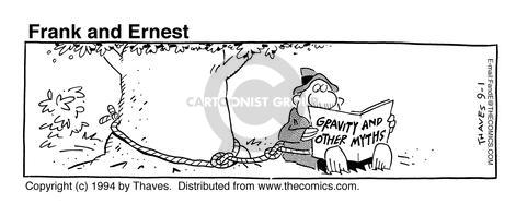 Comic Strip Bob Thaves Tom Thaves  Frank and Ernest 1994-09-01 physics