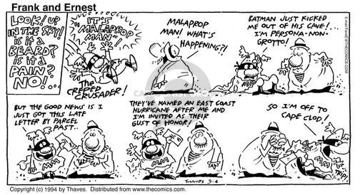 Cartoonist Bob Thaves Tom Thaves  Frank and Ernest 1994-09-04 fighter