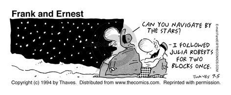 Comic Strip Bob Thaves Tom Thaves  Frank and Ernest 1994-09-05 Robert