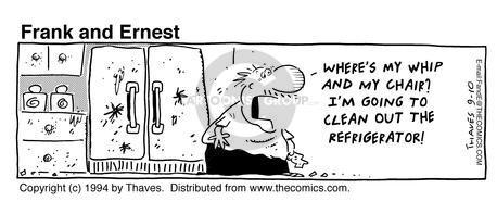Cartoonist Bob Thaves Tom Thaves  Frank and Ernest 1994-09-10 dangerous
