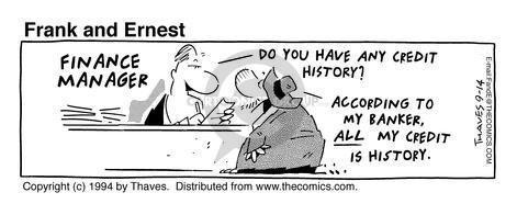 Comic Strip Bob Thaves Tom Thaves  Frank and Ernest 1994-09-14 finance