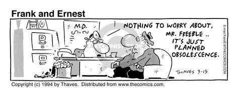 Comic Strip Bob Thaves Tom Thaves  Frank and Ernest 1994-09-15 worry