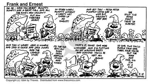 Comic Strip Bob Thaves Tom Thaves  Frank and Ernest 1994-09-18 fall