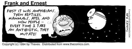 Comic Strip Bob Thaves Tom Thaves  Frank and Ernest 1994-09-20 antibiotic
