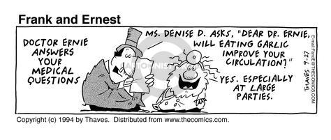 Comic Strip Bob Thaves Tom Thaves  Frank and Ernest 1994-09-27 Denise