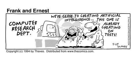 Comic Strip Bob Thaves Tom Thaves  Frank and Ernest 1994-09-29 computer