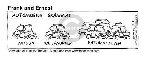 Comic Strip Bob Thaves Tom Thaves  Frank and Ernest 1994-10-03 grammar
