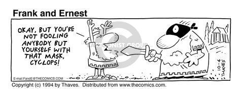 Comic Strip Bob Thaves Tom Thaves  Frank and Ernest 1994-10-04 greek