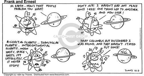 Comic Strip Bob Thaves Tom Thaves  Frank and Ernest 1994-10-09 earth