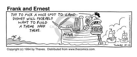 Cartoonist Bob Thaves Tom Thaves  Frank and Ernest 1994-10-10 captain