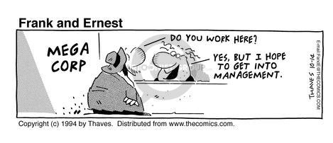 Cartoonist Bob Thaves Tom Thaves  Frank and Ernest 1994-10-14 counter