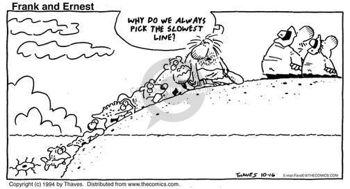 Comic Strip Bob Thaves Tom Thaves  Frank and Ernest 1994-10-16 amphibian