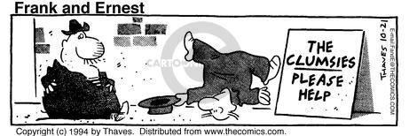 Comic Strip Bob Thaves Tom Thaves  Frank and Ernest 1994-10-21 charity