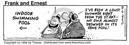 Comic Strip Bob Thaves Tom Thaves  Frank and Ernest 1994-10-28 bad start
