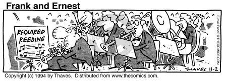 Cartoonist Bob Thaves Tom Thaves  Frank and Ernest 1994-11-02 musical