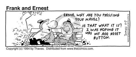 Comic Strip Bob Thaves Tom Thaves  Frank and Ernest 1994-11-07 turn back