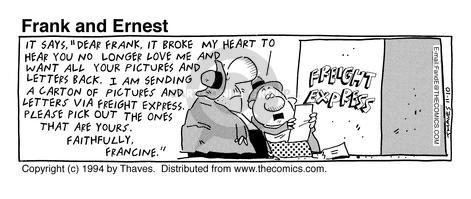 Cartoonist Bob Thaves Tom Thaves  Frank and Ernest 1994-11-10 carton