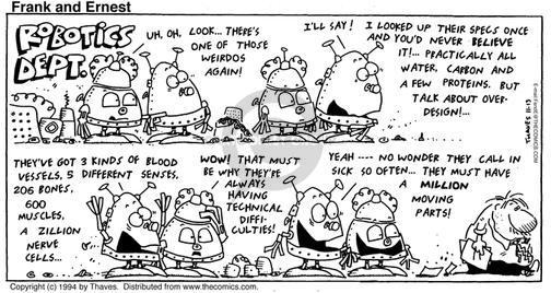 Cartoonist Bob Thaves Tom Thaves  Frank and Ernest 1994-11-13 practically