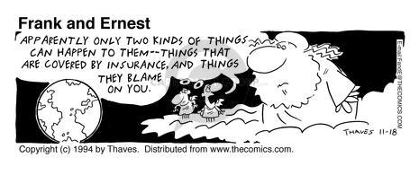Comic Strip Bob Thaves Tom Thaves  Frank and Ernest 1994-11-18 two things