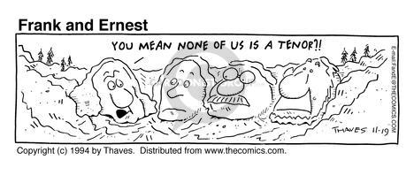 Cartoonist Bob Thaves Tom Thaves  Frank and Ernest 1994-11-19 Thomas Jefferson
