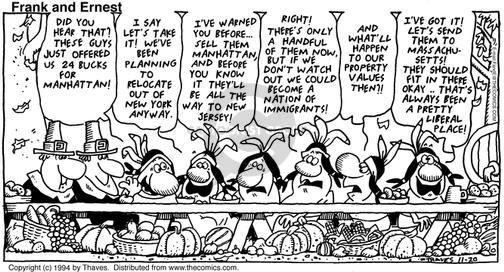 Comic Strip Bob Thaves Tom Thaves  Frank and Ernest 1994-11-20 liberal
