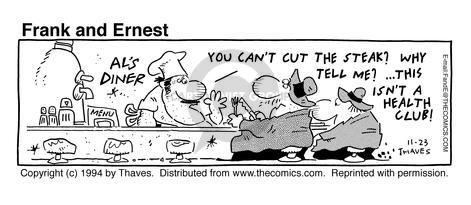 Comic Strip Bob Thaves Tom Thaves  Frank and Ernest 1994-11-23 food health