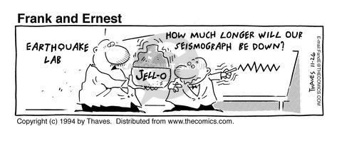 Comic Strip Bob Thaves Tom Thaves  Frank and Ernest 1994-11-26 prediction