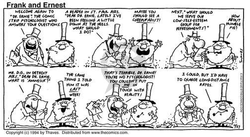 Comic Strip Bob Thaves Tom Thaves  Frank and Ernest 1994-11-27 in touch with reality